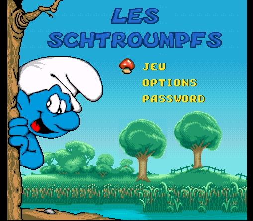 [Old-Test]1 : Les schtroumpfs (the smurfs) [super-nintendo] Menu-1cb2d92