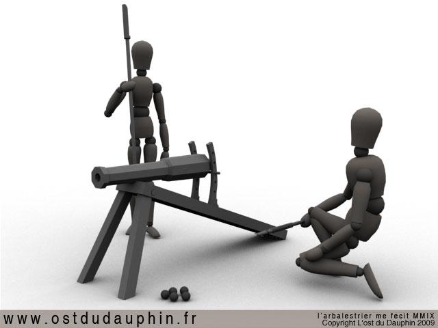 Maquette 3D d'un canon bourguignon XVe Can01-a82238
