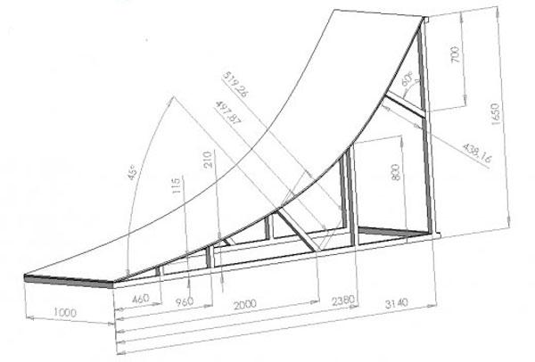 Construire Une Rampe En Bois Pour Abri De Jardin Remise Ou  ~ Construire Une Rampe De Skate En Bois