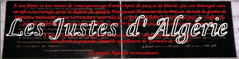 Les Justes d'Algérie